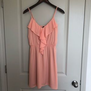 Dresses & Skirts - KLd signature peach dress size small!